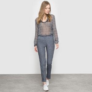 Pantaloni a sigaretta 7/8 cotone/lino atelier R