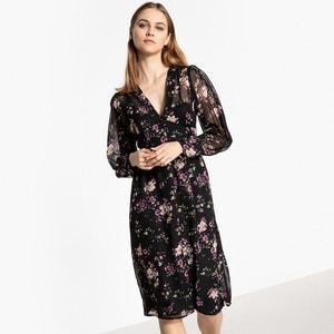 Rozkloszowana sukienka ze wzorem, długość midi (3/4) MADEMOISELLE R