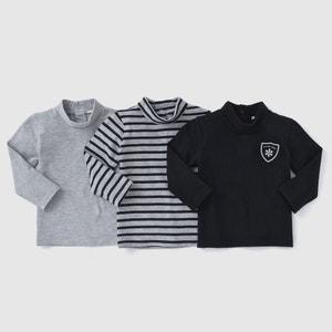 T-shirt col roulé (lot de 3) 1 mois-3 ans R édition