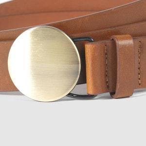 Cinturón con placa redonda R studio