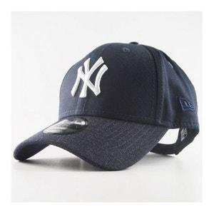Casquette New Era 940 New York Yankees Team Heather Visoir 9Forty  Bleu Marine NEW ERA CAP