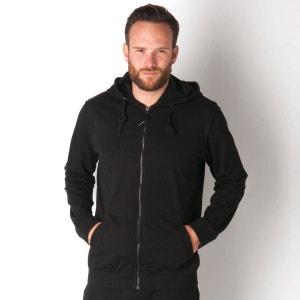 Sweat à capuche zippé Bench pour homme en noir et bleu BENCH