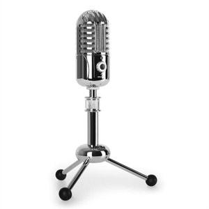 CM280 Microphone à condensateur USB argent A/D AUNA