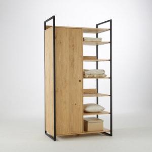 Módulo armario con 1 puerta ropero con 6 estantes HIBA