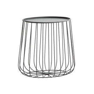 Bout de canapé ovale fil métal, Cage AM.PM.