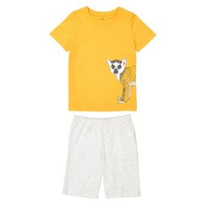 """Pyjashort imprimé """"lémurien"""" 3-12 ans La Redoute Collections"""