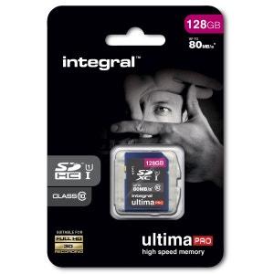 Cartes memoire  SDHC 128 GO CL 10/80 INTEGRAL