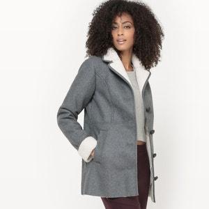 Manteau lainé bi-matière R studio