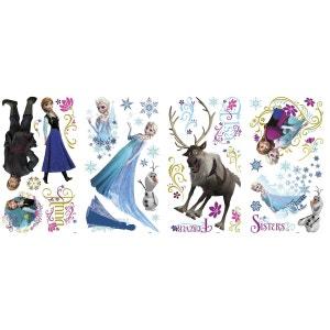 36 Stickers géant scintillant La Reine des Neiges Disney Frozen ROOM MATES