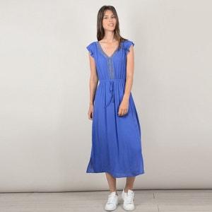 V-Neck Midi Dress with Openwork Detail MOLLY BRACKEN