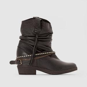 Boots en cuir effet plissé BIRK COOLWAY