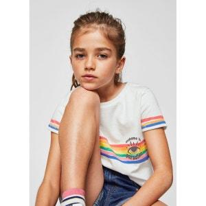 T-shirt imprimé arc-en-ciel MANGO KIDS