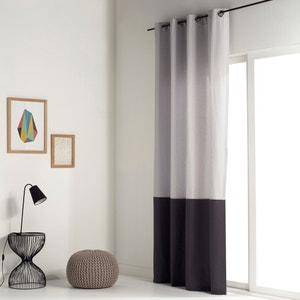 Cortina bicolor 100% algodón con ojales AGURI La Redoute Interieurs