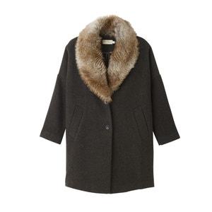 Пальто оверсайз с искусственным мехом SEE U SOON