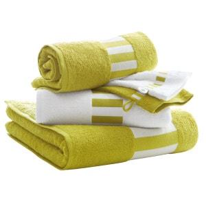 Lot de 1 drap de bain + 2 serviettes + 2 gants, 420g/m2 La Redoute Interieurs