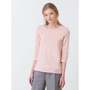 T-shirt femme bimatière boutons au dos, HIDA SOMEWHERE