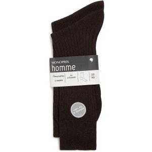 Lot de 2 paires de chaussettes en fil d'écosse pur coton MONOPRIX HOMME