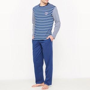 Pijama às riscas, puro algodão ATHENA