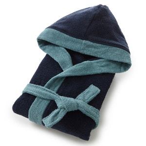 Albornoz de felpa con capucha bicolor, algodón 380g/m² La Redoute Interieurs
