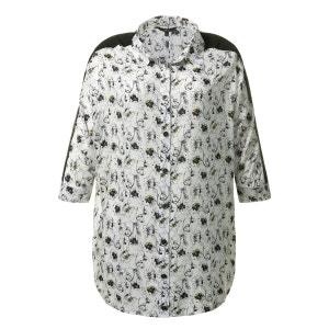 Blouse col polo,  chemise imprimé, manches longues ULLA POPKEN
