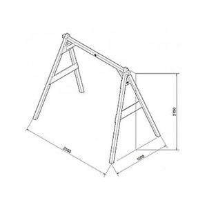 Portique double gris Axi 2 balancoires AXI HOUSE