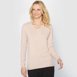 Пуловер с V-образным вырезом из кашемира, тонкий трикотаж ANNE WEYBURN