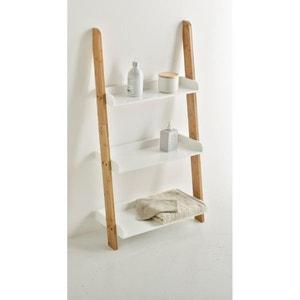 Estanteria escalera para cuarto de baño con 3 tableros, bambú, LINDUS La Redoute Interieurs