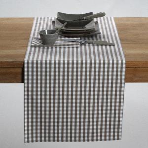 Chemin de table tissé-teint pur coton vichy, Garde La Redoute Interieurs