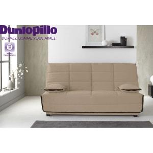 Banquette-lit Eleana - Matelas Dunlopillo HR35kg - Plusieurs coloris unis au choix RELAXIMA