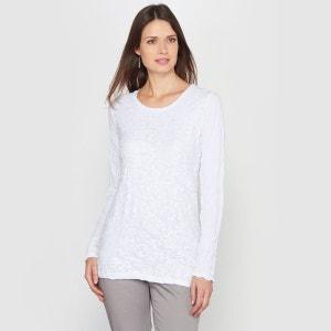 T-shirt, jersey froissé et dentelle ANNE WEYBURN