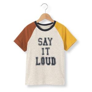 Tricolor T-shirt met tekst abcd'R