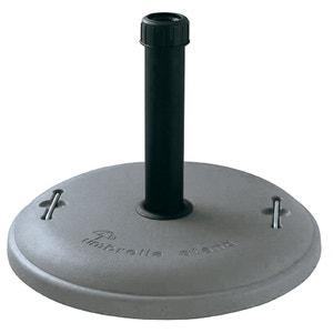 Pied de parasol gris en ciment 22 kg + poignées CROSS OUTDOOR