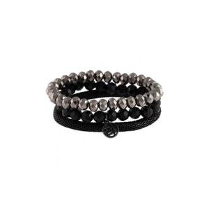 Set de trois bracelets pierres facettées BALABOOSTE