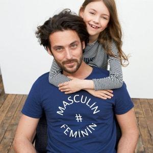 T-shirt col rond imprimé 100% coton bio R essentiel