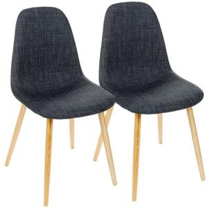 Chaise scandinave tissu gris la redoute - La redoute chaise scandinave ...