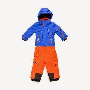 Peak Mountain - Ensemble de ski garçon 10/16 ans ECOSMIC-bleu/orange PEAK MOUNTAIN