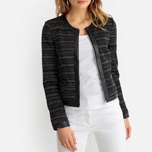 Korte getailleerde jas met ronde hals