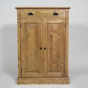 Buffet bois massif, 2 portes 1 tiroir 2 étagères     N422 MADE IN MEUBLES