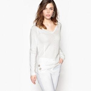 Pullover aus Zierstrick mit V-Ausschnitt ANNE WEYBURN