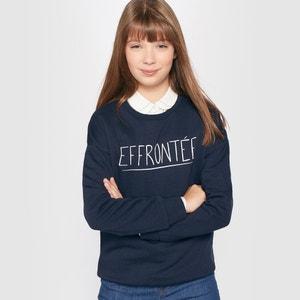 ''Effrontée'' Print Sweatshirt, 10-16 Years R édition