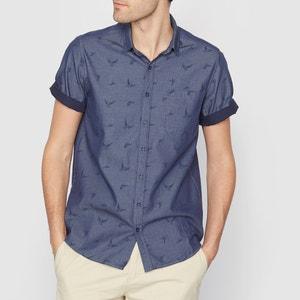Pure Linen Straight Cut Short-Sleeved Shirt SOFT GREY