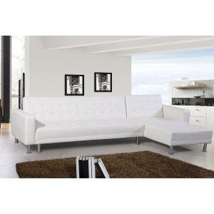 Canape Convertible Cuir Blanc La Redoute - Canape en cuir blanc convertible
