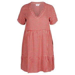 Sukienka rozkloszowana, półdługa z krótkimi rękawami ZIZZI