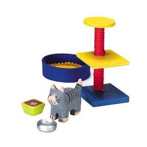 Set d'accessoires en bois pour chat SELECTA