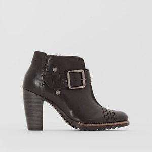 Boots in leer met hak en gesp, Hettie DKODE