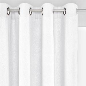 rideau lin blanc la redoute. Black Bedroom Furniture Sets. Home Design Ideas