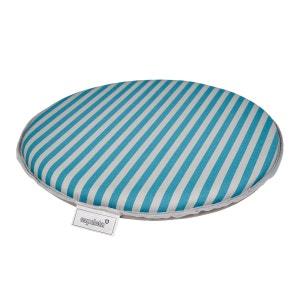 Coussin de chaise bleu turquoise la redoute - Galette de chaise ronde bleu ...