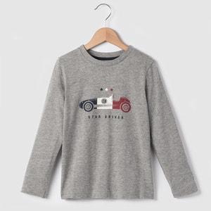 Camisola de mangas compridas, carros, 3-12 anos abcd'R