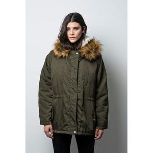 Midi Coat with Faux Fur Hood COMPANIA FANTASTICA