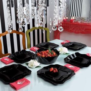 Service de table en verre 19 pièces Authentic noir LUMINARC